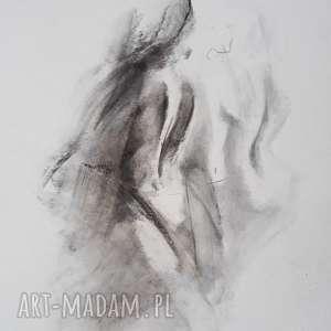 akty 30x40, rysunek kobieta, grafika do sypialni, salonu, czarno