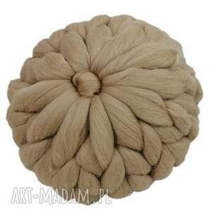 poduszki poduszka z wełny czesankowej merynos bloom 27 cm, dekoracyjna