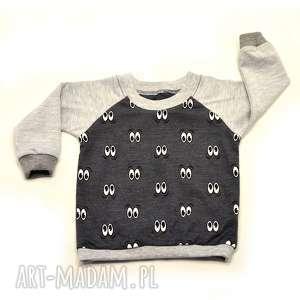 OCZY szara bawełniana bluzka dla dziewczynki, chłopca, rozmiary 68-122