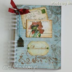 notesy pamiętnik- makowa pocztówka, pamiętnik, notes, sekretnik, maki, notatnik