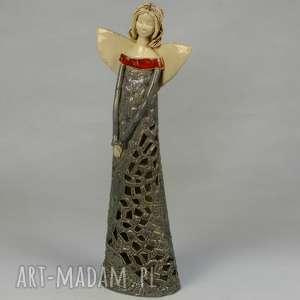Anioł lampion, anioł, ceramikaa, ręcznie-wykonany