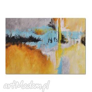 Abstrakcja YBTG, nowoczesny obraz ręcznie malowany, obraz, nowoczesny,