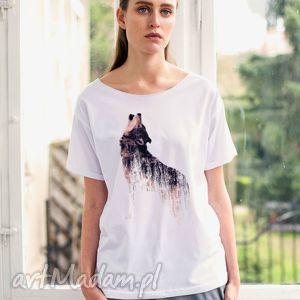 hand made koszulki wolf oversize t-shirt
