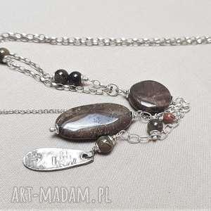 Naszyjnik ze srebra i jaspisu 517 naszyjniki tilia pracownia