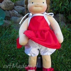 Sukienka i pantalony dla lalki 38-44 cm - ,sukienka,pantalony,majtki,lalka,rzepy,ubranko,
