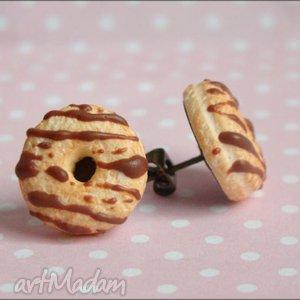 Sztyfty pączki donuts polane czekoladą., donuts, fimo, modelina, czekolada, sztyfty