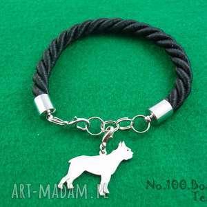 Prezent Bransoletka boston terrier pies nr.100, bransoletka, pies, rasy-psów
