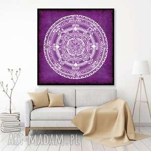 mandala 50x50cm, mandala, róż, obraz, plakat, ilustracja