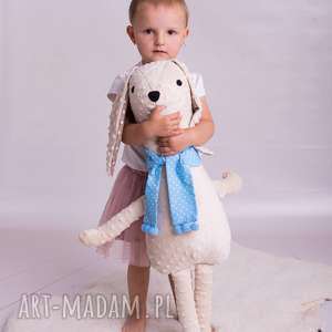 przytulanka dziecięca pies w szaliku, poduszka pies, piesek, piesek