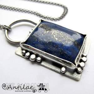 Inki - Lapis lazuli, srebro, naszyjnik, lapis, srebro