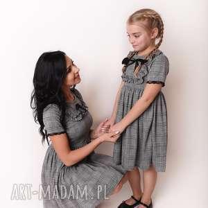 latori - sukienka dziewczęca z kolekcji mama i córka dla córki ld44/3 kratka