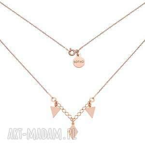 handmade naszyjniki naszyjnik z różowego złota z trójkątami i rombem