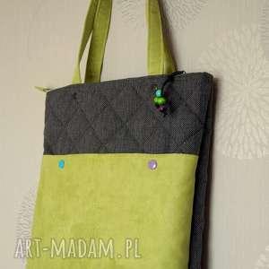 na ramię pikowana torba ramię, torba, pikowana, grochy, codzienna, prezent