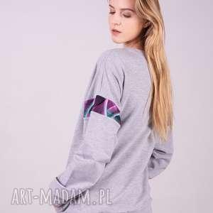 unikalne, bluza damska basic szara, bluzy, sukienki, kurtki, bluzki, spodnie