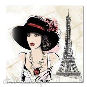 obrazy obraz xxl kobieta 4 paryż - 80x80cm na płótnie, obraz, paryż, wieża