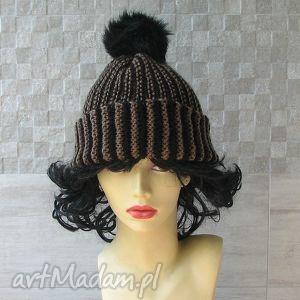 czapka zimowa z pomponem, czapka, męska, nadrutach, zima, pompon, akcesoria
