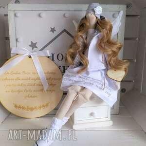 anioł lalka pamiątka chrztu pierwszej komunii, anioł, pamiątka, chrztu, świętego