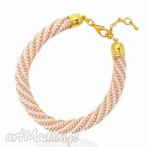 color gold - crystal and bransoletka koralikowa, bransoletka, koralikowa