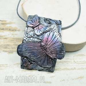 naszyjniki zawieszka z motylem, motyl, biżuteria motyle, naszyjnik