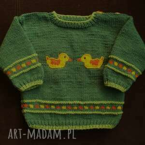 "Zamówienie p natalii - sweterek ""kaczuszki"" gaga art sweterek"