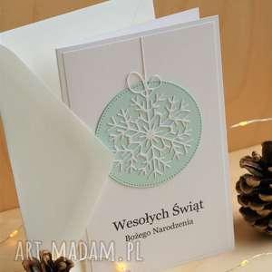 handmade scrapbooking kartki kartka ze śnieżynką