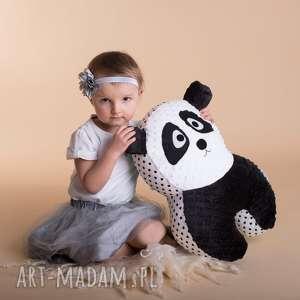 handmade zabawki poduszka dziecięca panda