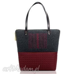 handmade torebki torebka pikowana z filcem city line 284