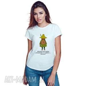 koszulki licencjonowana koszulka damska muminki mówienie tak bardzo przeszkadza