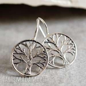 925 srebrne kolczyki drzewo życia ii, prezent