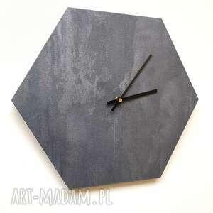 designerski zegar na ścianę, ścienny, beton, beton