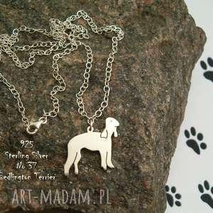 FRROdesign: bedlington terrier srebro próby 925 naszyjnik (nr.37) (naszyjnik z psem, srebro 925