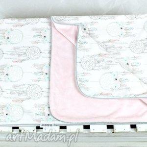Kocyk minky 75x100 Łapacz snów Róż, kocyk, niemowlę, dziecko, dreamcatcher,
