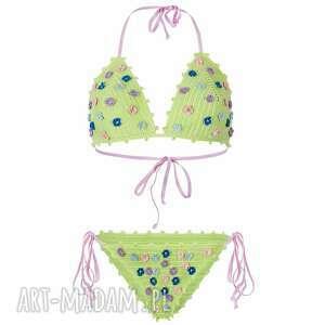 kostium kąpielowy kostaryka szydełkowy, kostium, strój, kąpielowy, bikini