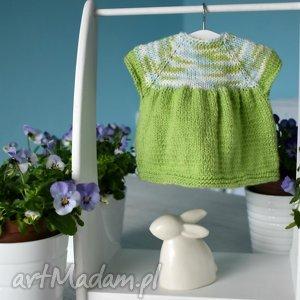 wiosenna sukienka dla lalki - sukienka, ubranko, lalka, waldorfska, szmacianka, dzianinowa