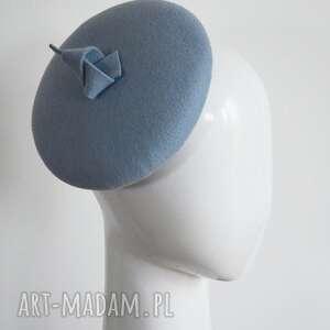 Błękitny wywijas ozdoby do włosów fascynatory fascynator, filc