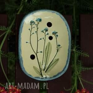 oryginalny prezent, enio art mydelniczka niezapominajki, mydelniczka