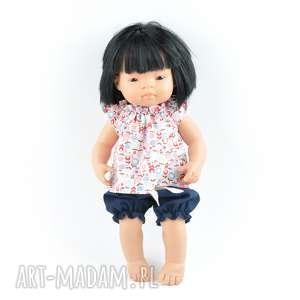 Zestaw geometryczna tunika bloomersy Miniland, lalki, hiszpańskie, ubranka, miniland