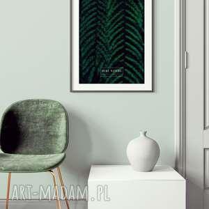 plakat a3 paproć, wystrój, wnętrza, salon, sypialnia, tropikalne, liście