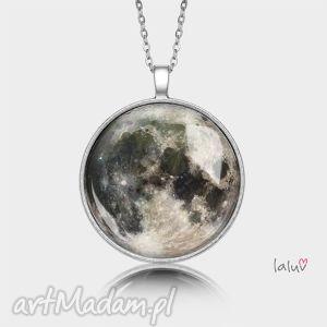 medalion okrągły moon - księżyc, zaćmienie, niebo, noc, kosmos