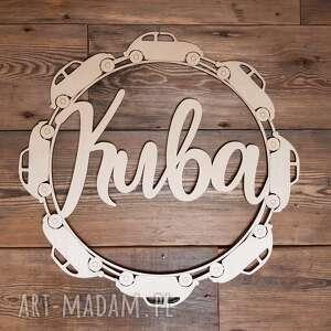 hand-made pokoik dziecka napis imię kuba