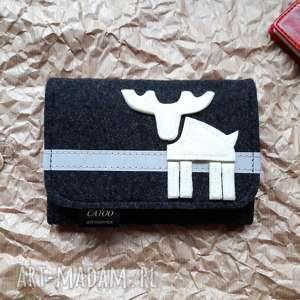 wyjątkowy prezent, portfel z reniferem, portfel, renifer, filcowy, washpapa