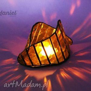 Lampion symbiosis mały, lampion, witraż, świecznik, witrażowy, nowoczesny,