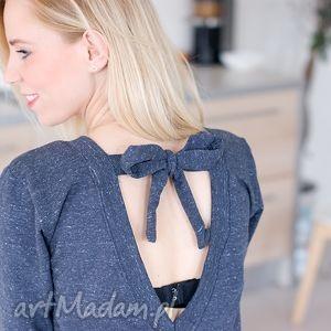 handmade bluzy damska bluzka bluza z zawiązywaną kokardą blog xs s