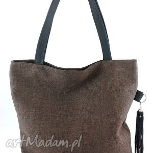 Hip brown - ,torebka,duża,pojemna,skóra,naturalna,
