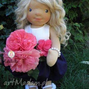 Lalka waldorfska Bella - ,lalka,waldorfska,szmacianka,wlosy,sukienka,maskotka,