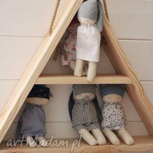 Półka, półka, drewniana, wisząca, trójkątna, dzieci, ściana