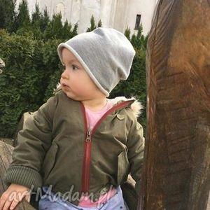 ręcznie wykonane czapki czapka dziecięca beanie smerfetka dresowa