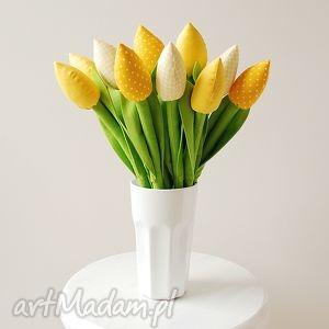 bukiet bawełnianych tulipanów - tulipany, dekoracja, kwiaty, kwiatki