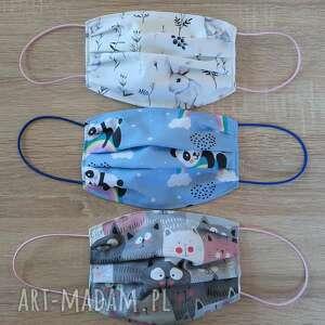 maseczki bawełniane na twarz zestaw 3 sztuki, maseczki, bawełniane