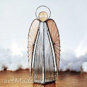 Anioł Ariel lampion, anioł, witraże, rękodzieło, świecznik